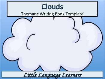 ESL Resources: Cloud/Weather-Thematic Writing Thematic Boo