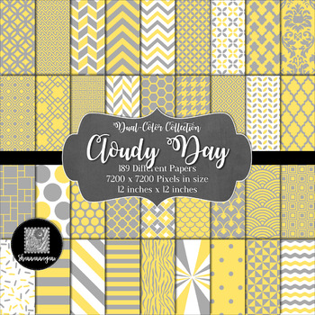 Cloudy Day Digital Paper Collection 12x12 300dpi