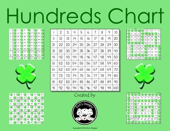 St. Patrick's Day themed Clover Cover Up ~ March Hundreds Chart