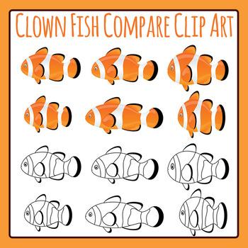 Clown Fish Compare / Measure / Odd One Out Clip Art for Co