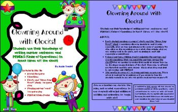 Clowning Around w/ Clocks! Order of Operations Number & Op