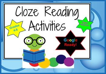 Google Cloze Activities Digital Interactive Notebook