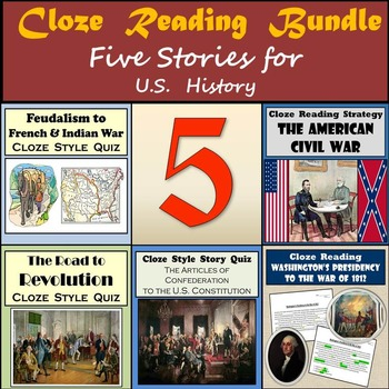 Cloze Reading Strategy Bundle - French & Indian War Throug