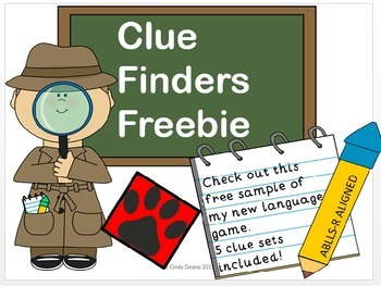 Clue Finders Freebie- An ABLLS-R aligned game