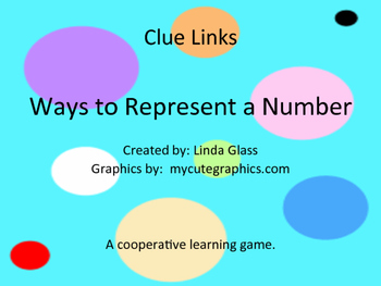 Clue Links Ways to Represent a Number
