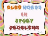 Clue Words In Story Problems with funky frames