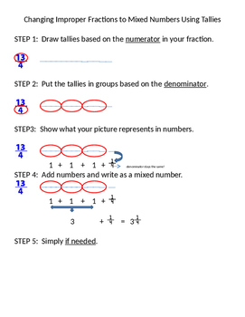 Cnaging Improper Fractions (Fractions Greater Than 1) to M