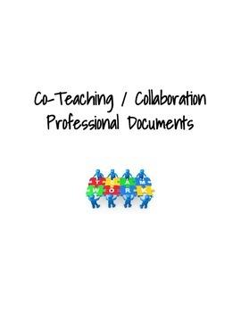 Co-Teaching / Collaborative Teaching Professional Resource
