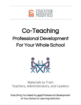 Co-Teaching & Inclusion Professional Development for Your