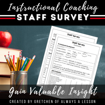 Instructional Coaching: Staff Self-Survey on Teaching Skill Level