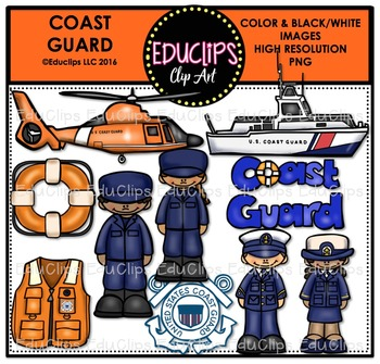 Coast Guard Clip Art Bundle