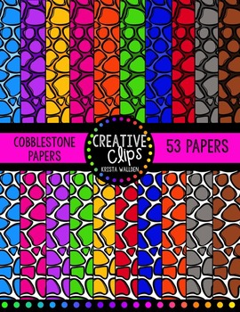 Cobblestone Papers {Creative Clips Digital Clipart}