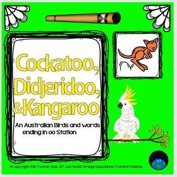 Cockatoos, Didjeridoo, & Kangaroos A Vocabulary Station