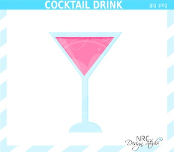 Cocktail Drink Clip Art - Commercial Use Clipart