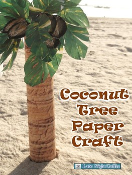 Coconut Tree Paper Craft Printable