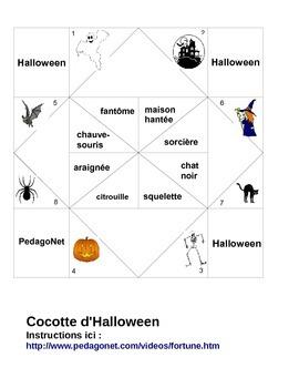Cocotte en papier d'Halloween