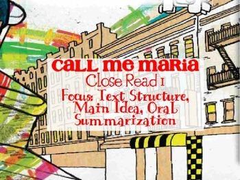 Code X Unit 1 Grade 7, Call Me Maria, First Close Read, Su