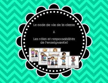 Code de vie de la classe (règles)