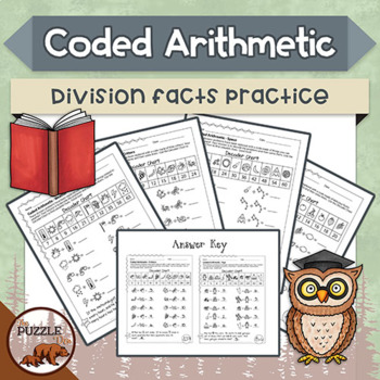 Coded Arithmetic Division - 13 puzzles practicing facts fr