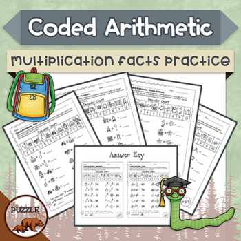 Coded Arithmetic Multiplication - 13 puzzles practicing fa