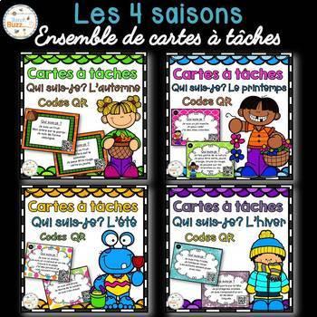 Codes QR - Les saisons - Ensemble de cartes à tâches - Sea