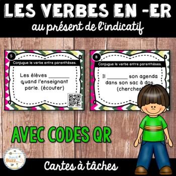 Codes QR - Les verbes du premier groupe (en er) - Cartes à