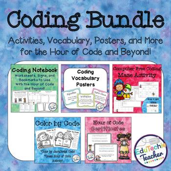 Coding Bundle {Hour of Code Resources- Notebook, Vocabular
