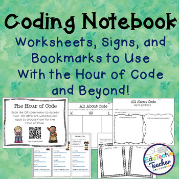 Coding Notebook: Worksheets, Signs, and Bookmarks for the