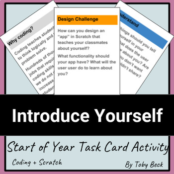 Coding, Scratch, Design Cycle: Start of Year Activity - In