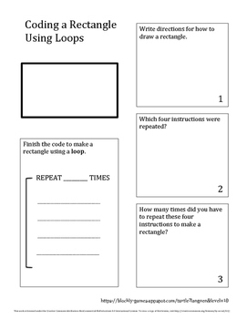 Coding with Loops - Rectangle
