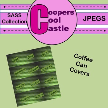 Coffee Can Covers: SASS Collection