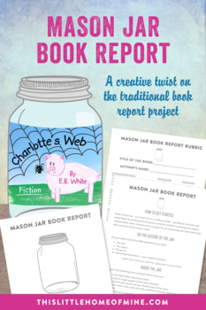 Coffee Can/Soup Can Elementary Reading Book Report Project