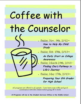 Coffee With The Counselor Poster/Flyer