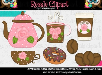Coffee And Donuts 1 ClipArt - Commercial Use