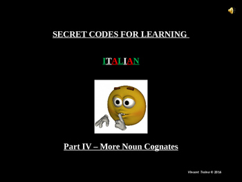 LIMITED TIME 50% OFF! - ITALIAN COGNATES 104-MORE NOUNS