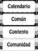 Cognates Cognados Word Wall A-Z Black & White