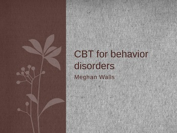 Cognitive-Behavior Therapy for children with behavior disorders