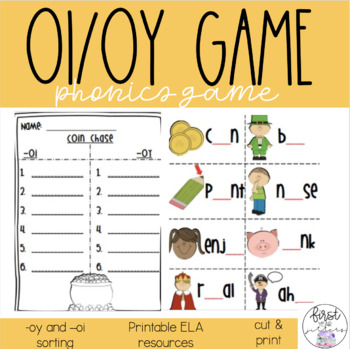 Coin Chase - oi and oy sort