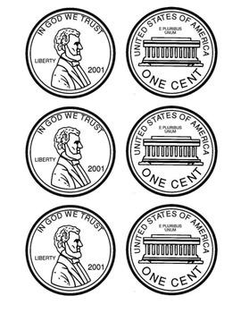 Coin Coloring Patterns - US Coins