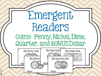 Coin: Emergent Reader Penny, Nickel, Dime, Quarter