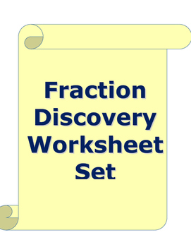 Coin Fractions - Discovery Worksheet Set