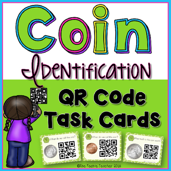 Coin Identification QR Code Task Cards