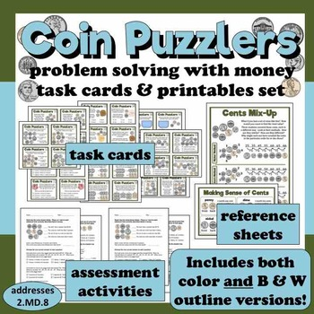 Coin Puzzlers - problem solving with money less than $1 ta