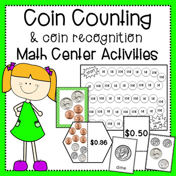 Coin Counting and Coin Recognition Math Center Activities