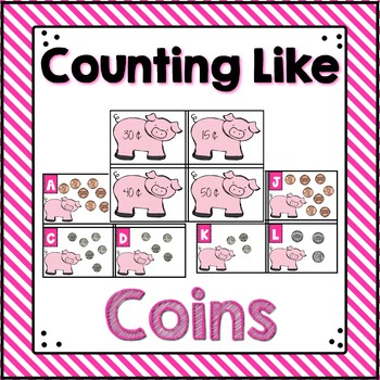 Coin Recognition Task Cards - Penny, Nickel, Dime