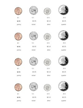 Coin Reference Sheet *No Prep* Money