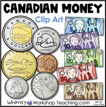 Coins Canadian Money Clip Art