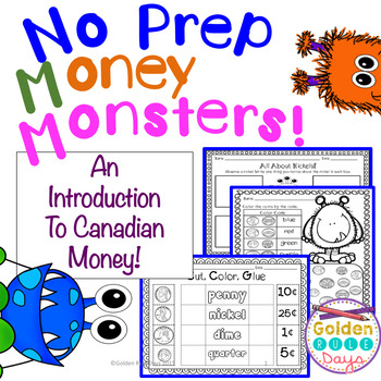 Coins & Money Canadian!  NO PREP Printables For Grades K, 1 & 2