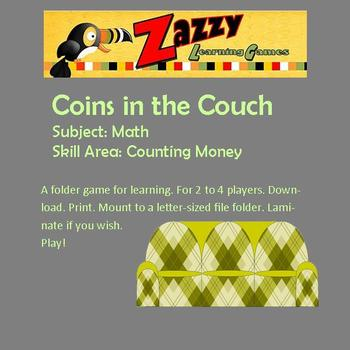 Coins in the Couch Folder Game for Counting Money