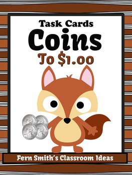 Money Task Cards for Coins to $1.00 with Recording Sheets